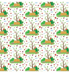 Seamless pattern of garden vector
