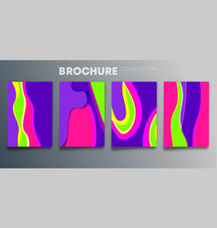 set colorful cover template design vector image