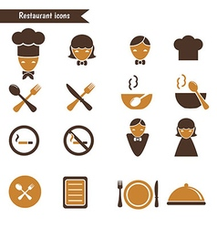 Set of restaurant icons vector image