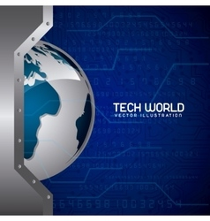 tech world vector image