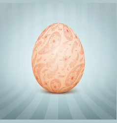 The easter egg with a floral pattern vector