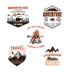 Vintage adventure tee shirts designs summer logo vector