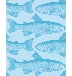 vintage fish pattern vector image