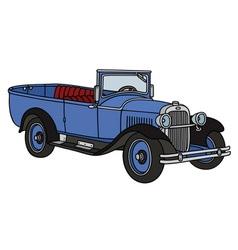Vintage open autocar vector