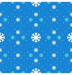Winter seamless pattern Snowflakes background vector image