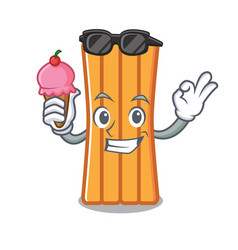 with ice cream air mattress character cartoon vector image