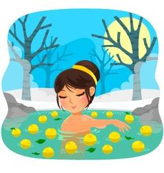 yuzu bath vector image