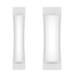 Blank White Foil Sachet For Sugar Coffee Salt vector image