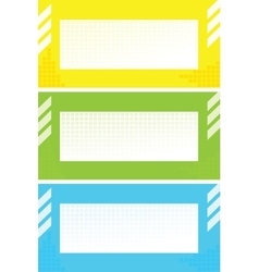colorful cards vector image