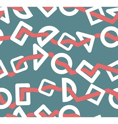 Geometric shapes seamless pattern Abstract vector image vector image