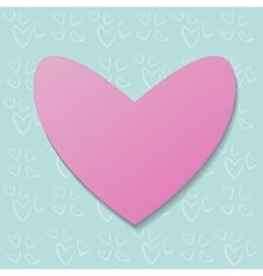 pink heart on a background pattern vector image