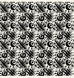 Seamless textile doodle pattern grunge texture vector