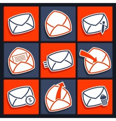 Set of icons for app envelopes and message vector image