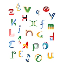 Set of letters vector image