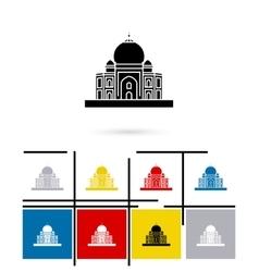 Taj Mahal in India icon vector image