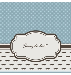 vintage frame and mustaches vector image vector image