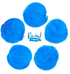 Blue circlemarker stains set vector image