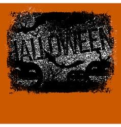 Halloween typography with pumpkins and bats vector image