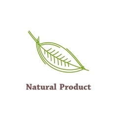 Natural product label vector image vector image
