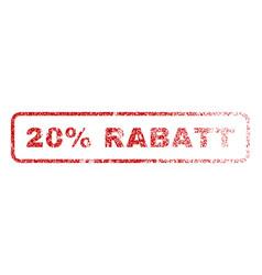 20 percent rabatt rubber stamp vector image