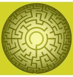 Convex round maze vector image