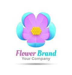 Creative abstract flower logo design Template for vector image