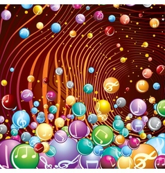 Funky Musical Background Image vector image vector image