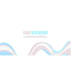 Header website abstract wave design vector
