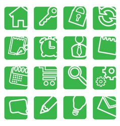 set of simple icons for decoration vector image