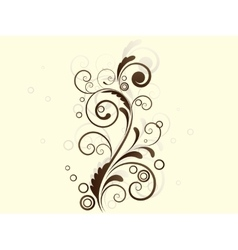 Abstract floral background with swirls vector image