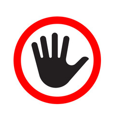 human palm stop sign icon vector image vector image