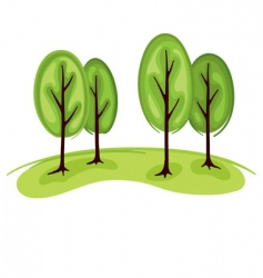 trees in summer vector image vector image