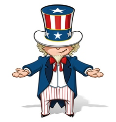 Uncle Sam Showing vector image vector image
