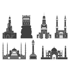 western asia vector image