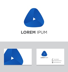 Abstract logo icon design business card template vector image