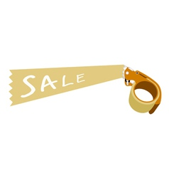 Adhesive Tape Dispenser With A Word Sale vector