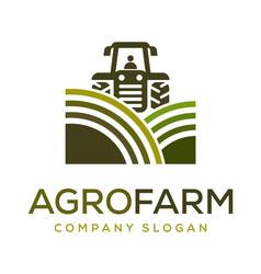 Agro farm logo design inspiration vector