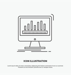 Analytics processing dashboard data stats icon vector