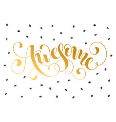 awesome greeting card vector image
