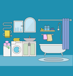 bathroom interior flat vector image