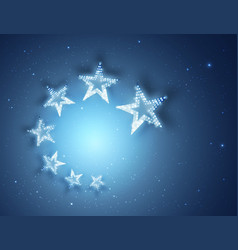 Blue stars abstract background for your design vector