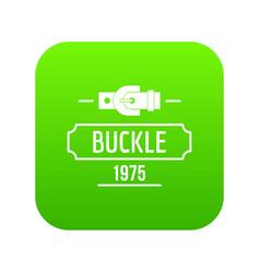 Buckle metal icon green vector