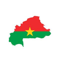 burkina faso flag and map vector image