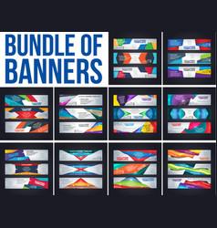 business cards bundle vector image