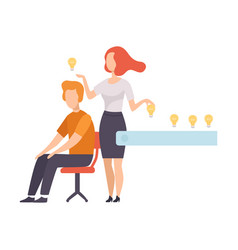 business people searching and sharing creative vector image