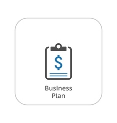 Business Plan Icon Business Concept Flat Design vector image