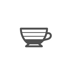 Cappuccino coffee icon hot drink sign vector