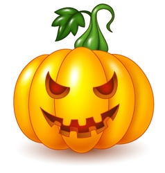 Cartoon Halloween pumpkin isolated vector image