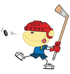 Cartoon Hockey player vector