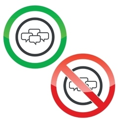 Chat conference permission signs vector
